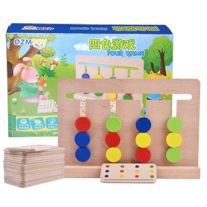 Joc lemn Montessori - labirint cu asociere de culori5
