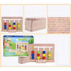Joc lemn Montessori - labirint cu asociere de culori3