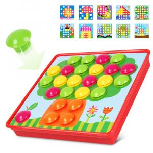 Joc de creație, Game Time - Button Idea, cu 12 planșe și 45 de butoane colorate, Multicolor, + 3 ani4