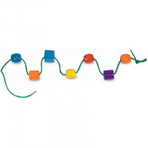 Jucărie de înșiruit din Lemn, Melissa & Doug, 30 piese colorate2