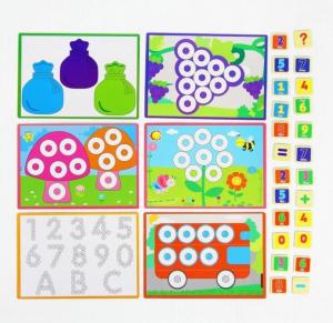 Joc educativ asociere, puzzle şi numărătoare2