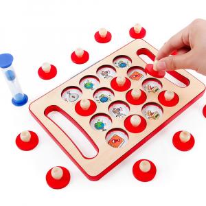 "Joc educativ Montessori pentru memorie ""Memory Chess"", Mattelot Toys1"