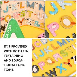 Joc lemn Carte cu Litere Magnetice si cuvinte in Engleza - Invatam alfabetul Pairing Letters [4]