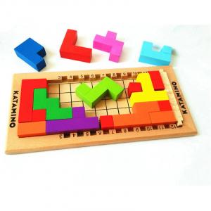 Joc logic din lemn tetris - Katamino1