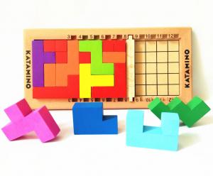 Joc logic din lemn tetris - Katamino0