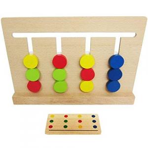Joc lemn Montessori - labirint cu asociere de culori1