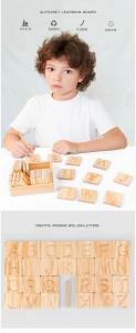 Joc Montessori din Lemn Placute Litere - Joc lemn montessori senzorial Alfabetul5