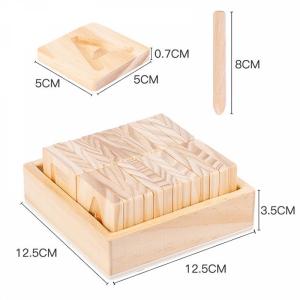 Joc Montessori din Lemn Placute Litere - Joc lemn montessori senzorial Alfabetul3