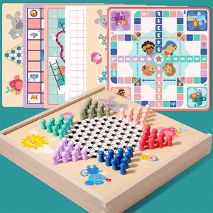 Joc din Lemn Educațional Dame - Joc din Lemn puzzle 7 în 10