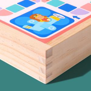 Joc din Lemn Educațional Dame - Joc din Lemn puzzle 7 în 18
