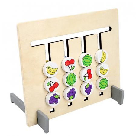 Joc pentru copii de indemanare si logica Sortare culori si animale, 4 Culori. Joc Montessori. [0]