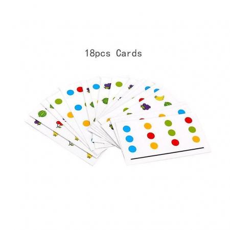 Joc pentru copii de indemanare si logica Sortare culori si animale, 4 Culori. Joc Montessori. [2]
