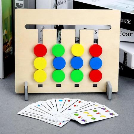 Joc pentru copii de indemanare si logica Sortare culori si animale, 4 Culori. Joc Montessori. [1]
