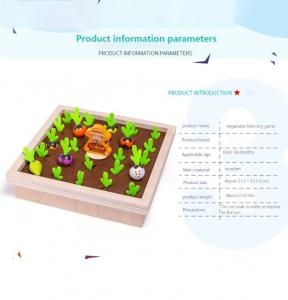 Joc lemn Memorie Gradina cu Legume - Joc Montessori din Lemn Gradina cu Legume [8]