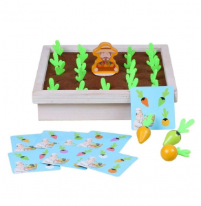 Joc lemn Memorie Gradina cu Legume - Joc Montessori din Lemn Gradina cu Legume [5]