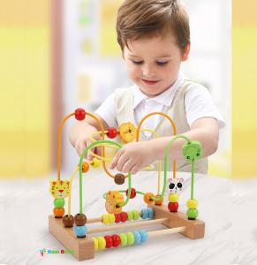 Labirint motricitate cu abac Animale – joc lemn [1]