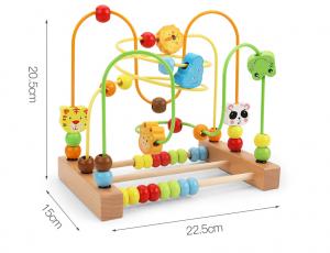 Labirint motricitate cu abac Animale – joc lemn [3]