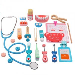 Set joc de rol doctor stomatolog din Lemn, 15 piese, 3 ani+1