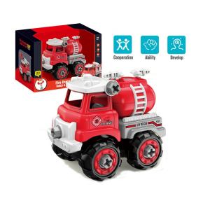 Jucarie creativa - Masina de pompieri de construit [0]