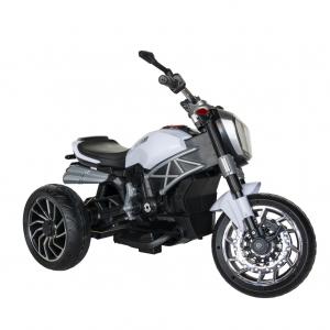 Motocicleta electrica copii cu acumulator, muzica si lumini, culoare alb/negru [2]