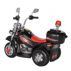 Motocicleta electrica copii cu acumulator, muzica si lumini, culoare alb [4]