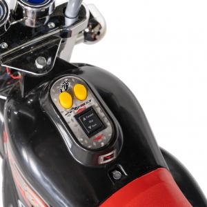 Motocicleta electrica copii cu acumulator, muzica si lumini, culoare alb [6]