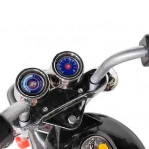 Motocicleta electrica copii cu acumulator, muzica si lumini, culoare alb [7]