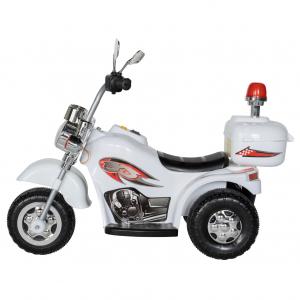 Motocicleta electrica copii cu acumulator, muzica si lumini, culoare alb2