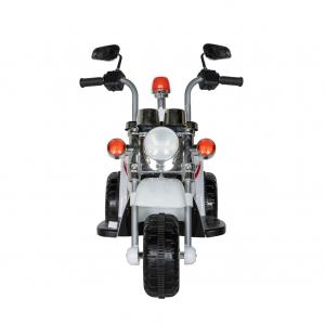 Motocicleta electrica copii cu acumulator, muzica si lumini, culoare alb1