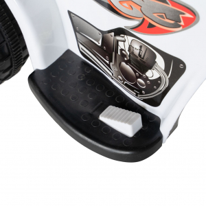 Motocicleta electrica copii cu acumulator, muzica si lumini, culoare alb8