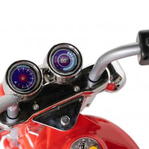 Motocicleta electrica copii cu acumulator, muzica si lumini, culoare alb/negru6