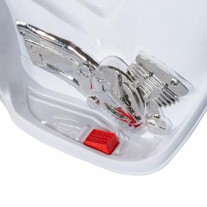 Motocicleta electrica copii cu baterie, muzica si girofar, culoare alb9
