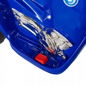 Motocicleta electrica copii cu baterie, muzica si girofar, culoare albastru11