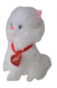 Pisicuță de pluș cu inimioară0
