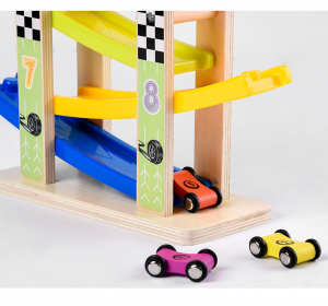 Pista cu masinute din lemn, circuit cu 8 piste si 6 masinute [1]