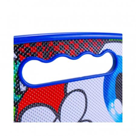 Placa Skateboard copii cu Luminite, Penny Board portabil, Roti din silicon cu lumini LED, ABEC-7 si MANER TRANSPORT, 58 cm - Rechin [3]