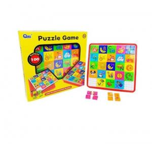 Joc educativ mozaic Puzzle Game, 100 piese, multicolor, 3 ani+ [0]