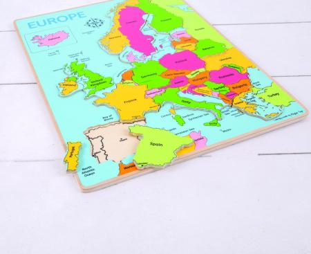 Puzzle incastru harta Europei [4]