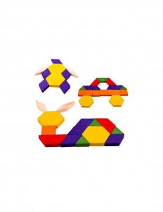 Joc Tangram Educativ cu 125 piese din lemn [3]