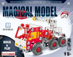 Set constructie metalic Masina de Pompieri, Magical Model , 169 piese [0]