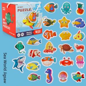 Set 24 puzzle My best puzzle - animale marine1