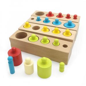 Cilindrii Montessori - cilindrii colorați din lemn2