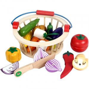 Set cos din lemn si 12 fructe de feliat [1]