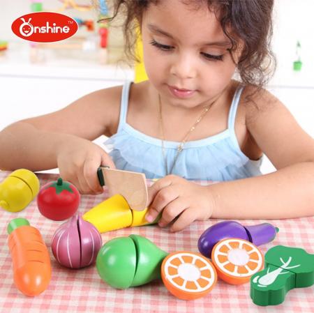 Set fructe și legume pentru copii din lemn Onshine0