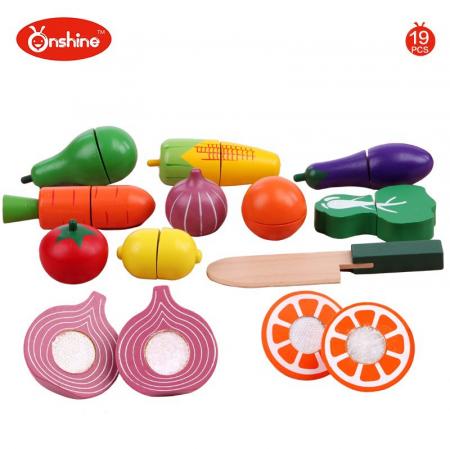 Set fructe și legume pentru copii din lemn Onshine1