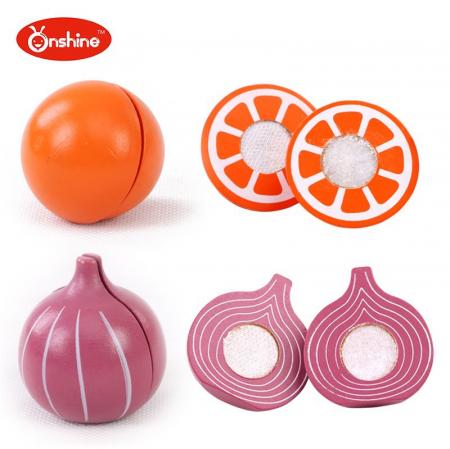 Set fructe și legume pentru copii din lemn Onshine2