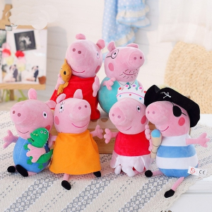Set 6 jucarii de plus Peppa Pig, 20 cm0