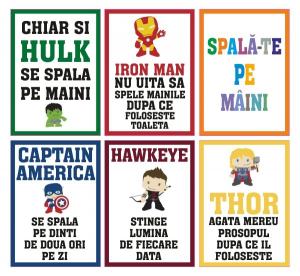Set stickere decorative - SPALA-TE PE MAINI PENTRU COPII0