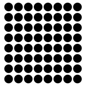 "Sticker decorativ - ""CERCURI BULINE FORMA GEOMETRICA"" - 64BUC2"