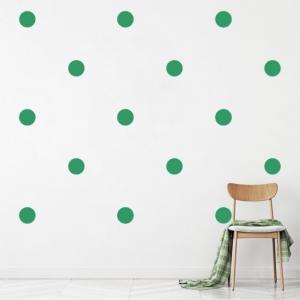 "Sticker decorativ - ""CERCURI BULINE FORMA GEOMETRICA"" - 64BUC1"